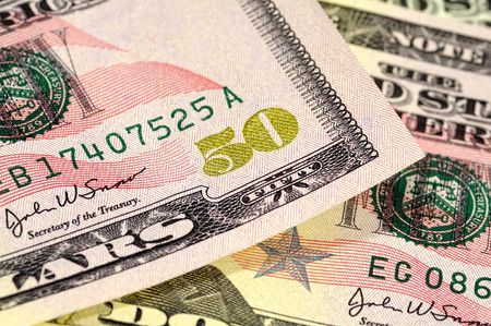fifty dollar bill: Fifty Dollar Bill Stock Photo
