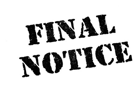 debt collection: Final Notice Stamp