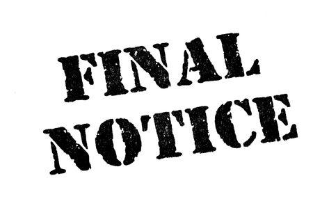 schuld: Final Notice Stempel