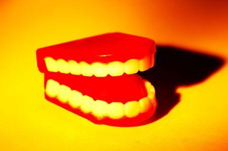 the novelty: Novelty Teeth Stock Photo