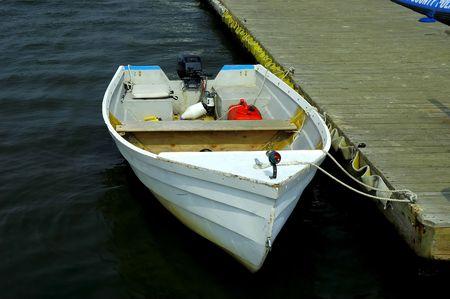 Photo of a Docked Row Boat Stock Photo - 241186