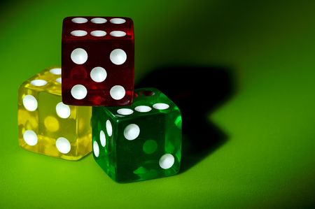 Various Color Dice Stock Photo