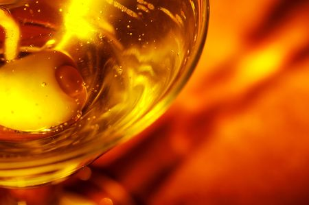 abstract liquor: Abstract Photo of a Martini Olive Stock Photo
