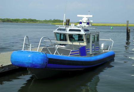 Docked Police Boat Stock Photo - 243973