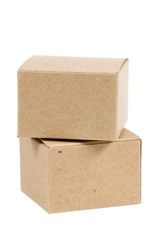 cajas de carton: Aislados Cajas de Cart�n