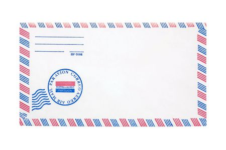 airmail: Photo of a Airmail Envelope Stock Photo