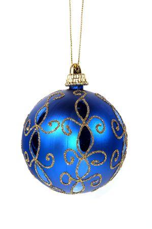 christmas golf: Isolated Blue Christmas Ornament