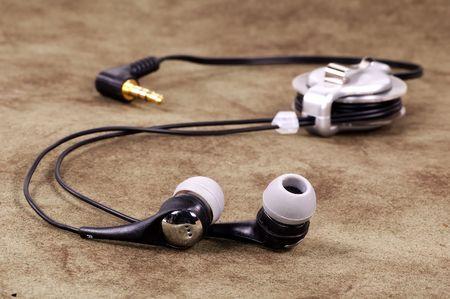 earpiece: Photo of Earphones Stock Photo