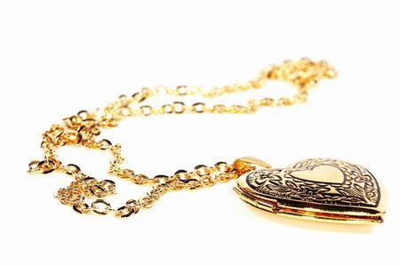 medaglione: Foto di un Gold Heart Locket