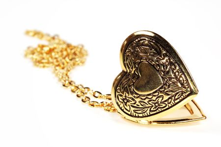 Photo of a Gold Heart Locket