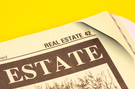 directory book: Phonebook Open Up To The Real Estate Section