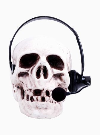 jawbone: Skull With Headset.