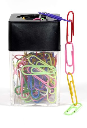 Paperclips Holder 스톡 콘텐츠
