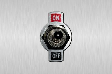 power switch: Photo of a Toggle Switch Stock Photo