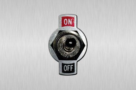 toggle: Photo of a Toggle Switch Stock Photo