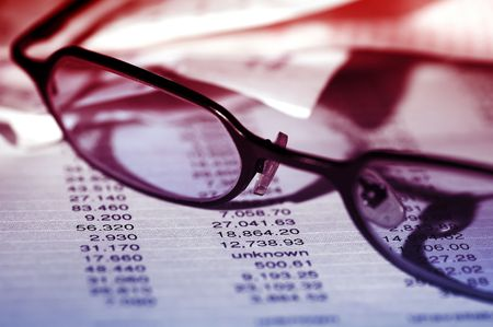 Eyeglasses on a Bank Statement