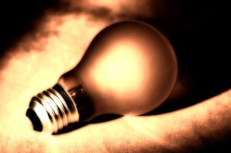 filaments: Abstract Lightbulb Stock Photo