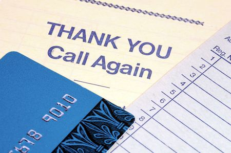 Credit Card, Receipt and Thank You Message. Banco de Imagens