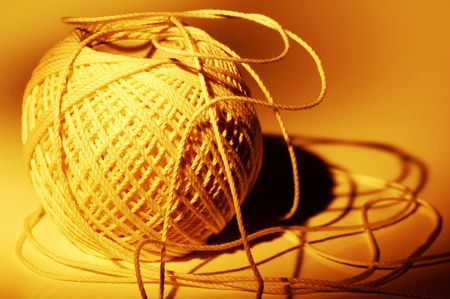 Photo of a Ball of String with Creative Lighting