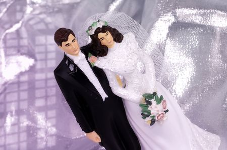 Bride and Groom Wedding Cake Ornament Stock Photo - 264281