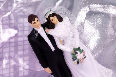 Bride and Groom Wedding Cake Ornament Stock Photo - 264281