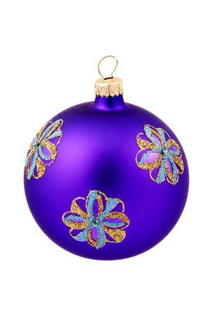 Decorative Glass Christmas Ornament Banque d'images