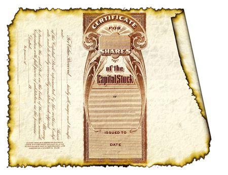 Burnt Stock Certificate