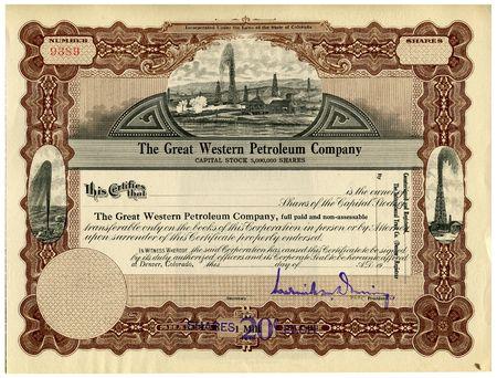 brokerage: Stock Certificate
