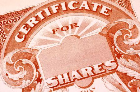 stock certificate: Vintage Stock certificado