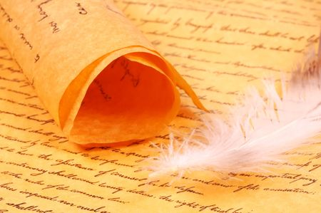 Parchment and a Feather Stock Photo - 272305