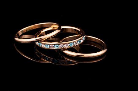 wedding bands: Foto de alianzas de boda  Foto de archivo