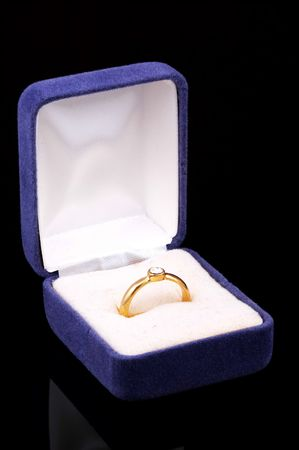 Diamond Ring In a Case