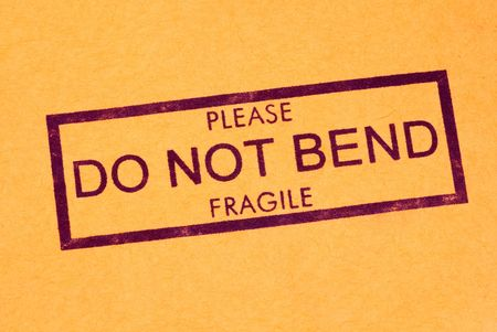 inkpad: Do Not Bend Shipping Stamp Stock Photo