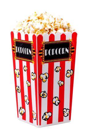 concession: Bucket of Popcorn Stock Photo