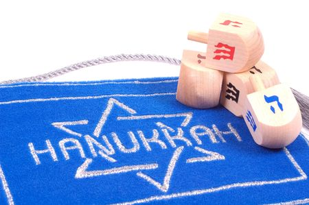 Various Hanukkah Related Items Stock Photo