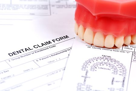 Dental Form and Model of Upper Teeth Stock Photo - 283480