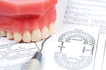 Dental Form and Model of Upper Teeth photo