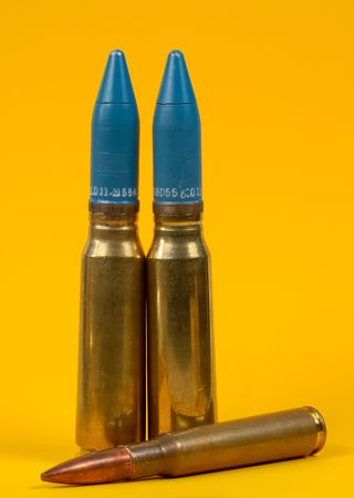 caliber: Photo of .50 Caliber Rounds Stock Photo