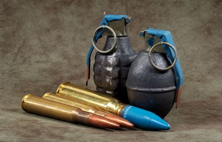 casings: Photo of Bullets and Grenades