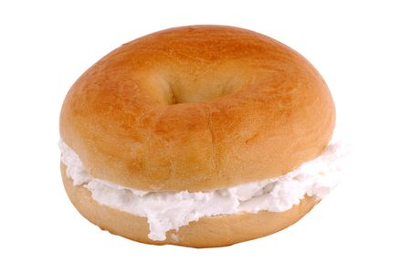 bagel: Cream Cheese Bagel Stock Photo