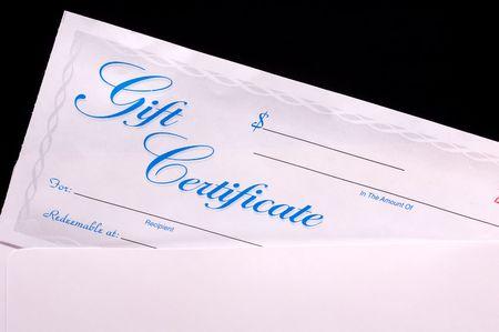 certificado: Certificado de Regalo en un sobre