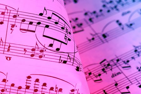 lows: Sheet Music Background Stock Photo