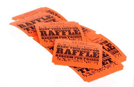 Isolated Raffle Tickets