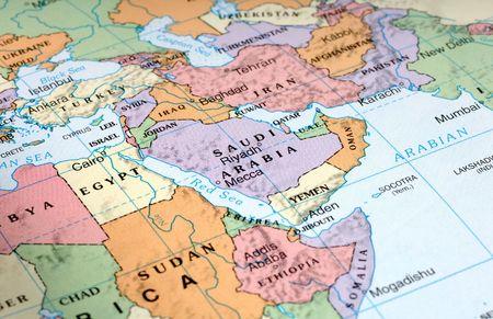 Mapa del Medio Oriente  Foto de archivo - 297593