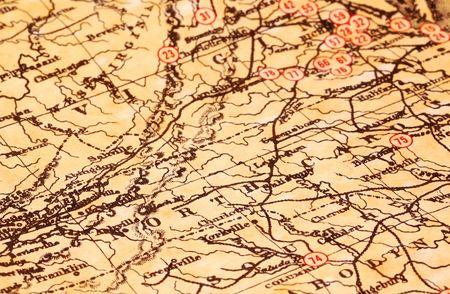 Vintage Map of Virginia and Nort Carolina Stock Photo - 300020