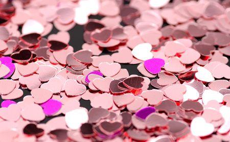Heart Confetti Stock Photo