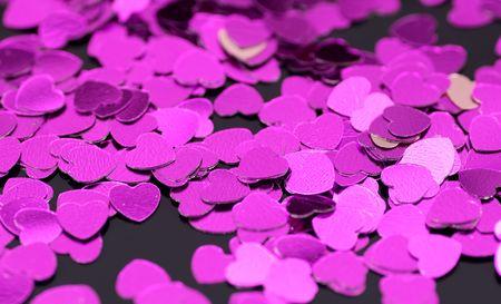 Putple Heart Confetti