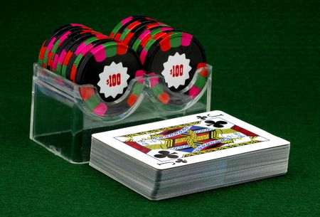 Poker CHips and a Deck of Cards Editorial