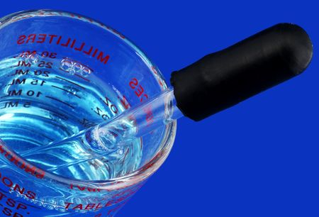 milliliters: Measuring Cup With an Eyedropper