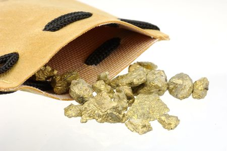 Leather Bag and GOld Nuggets photo